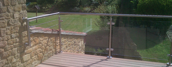 Glass balustrades are the clear choice for Garden decking glass panels