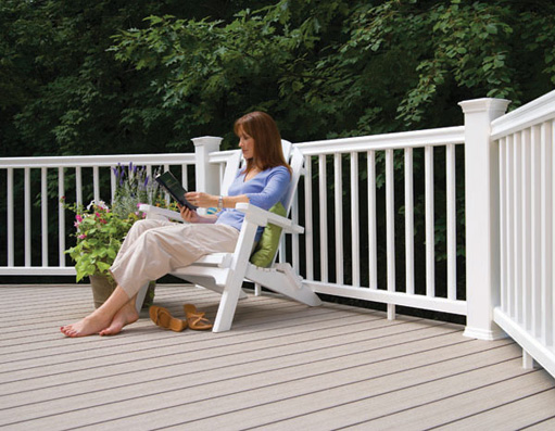 Low maintenance composite boards for Softwood decking boards