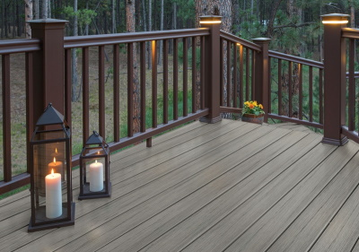 Driftwood composite decking