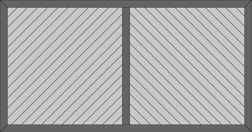 Diagonal deck boards with solid centre