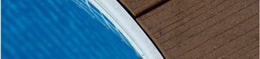 Swimming pool with composite decking