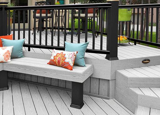 Grey deck design