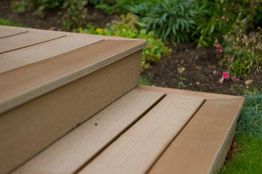 Composite wood steps