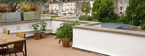 Roof terrace with VertiGrain Cedar decking