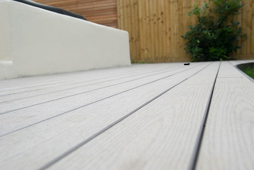 Grey plastic decking boards for Plastic decking boards