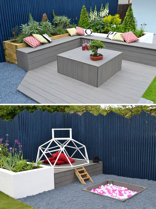 Garden decking designs a few of our favourites for End of garden decking ideas