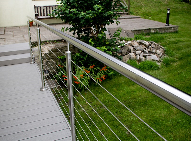 composite decking cable railing