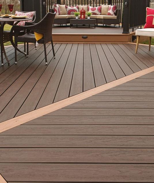 composite decking configuration