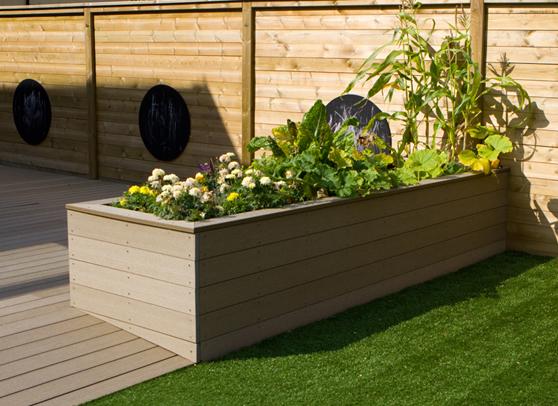 composite decking planter