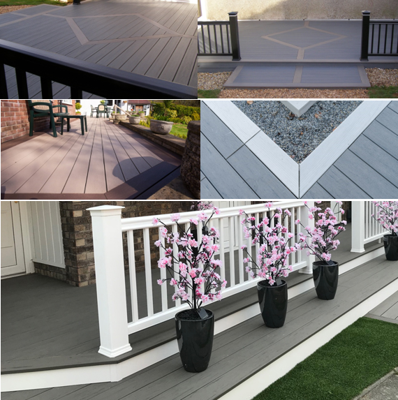 mixed composite decking