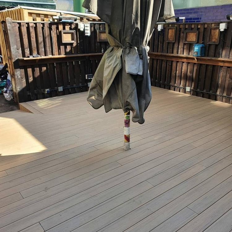 Bar decking in Borough Market, London