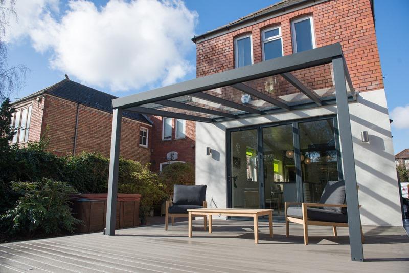 Deck with veranda