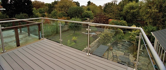 Decking on balcony
