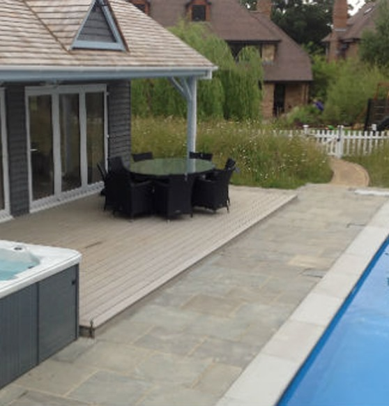 Orford Pool and Hot Tub Decking Image 1