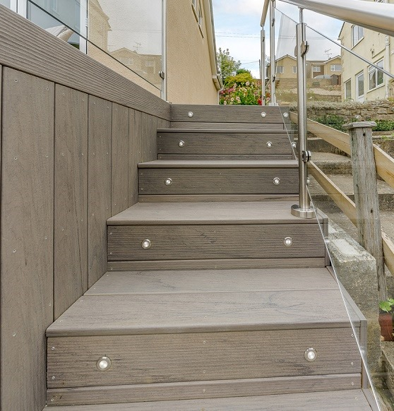 Stairs With Deck Lights