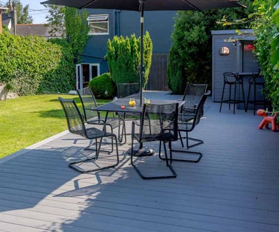 Grey Capped Decking