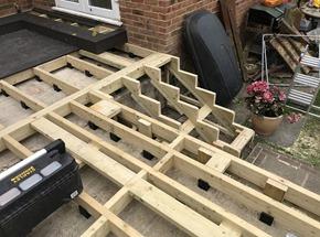 Composite Deck Installation
